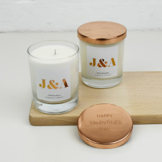 Couples Monogram Personalised Scented Candle