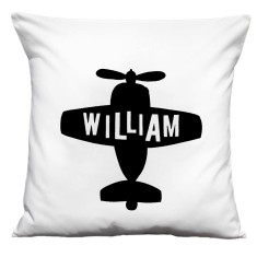 Personalised plane handmade cushion cover
