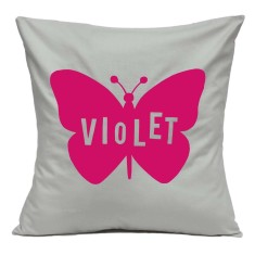 Personalised butterfly cushion cover