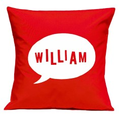 Speech bubble personalised cushion cover