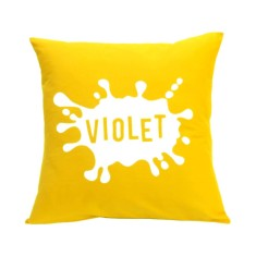 Splash of colour personalised name cushion cover (various colours)