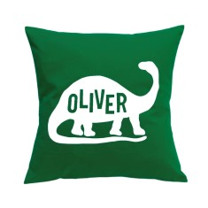 Dinosaur personalised cushion cover (various colours)