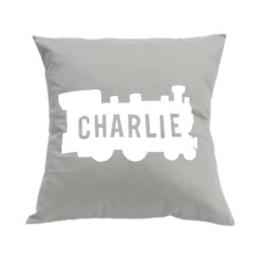 Train personalised cushion cover (various colours)