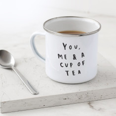 You Me and Tea Enamel Mug