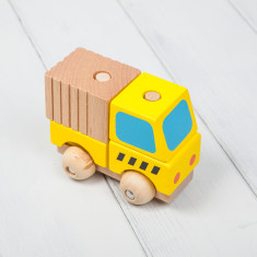 Wooden Stacking Dumper Truck Toy