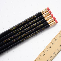 Black maths pencils (set of 5)