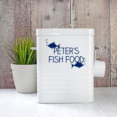 Personalised Fish Food Storage Tin