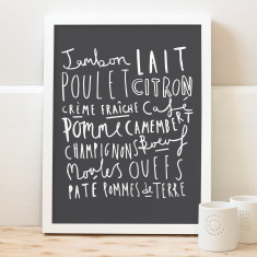 French Kitchen Words Print