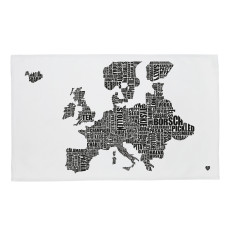 European Food Map Tea Towel