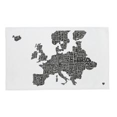 European Food Map Tea Towel