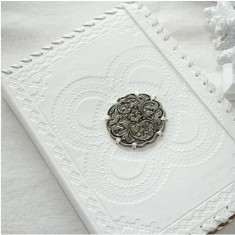 White leather notebook