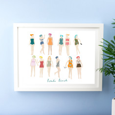 Personalised At The Beach Print