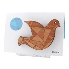 Cuba geometric dove brooch