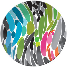 French Bull round platter in twist pattern