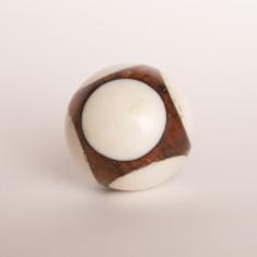 Cueball white knob/drawer pull
