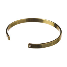 Brass cuff with silver dots