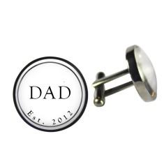 Dad est. cufflinks