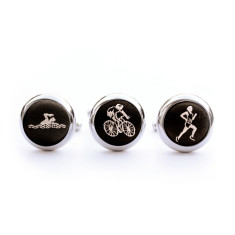 Triathlon cufflink set