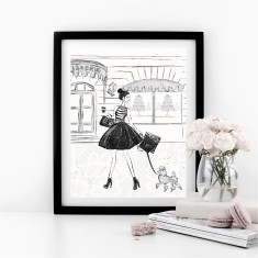 Parisian Grande Rue Fashion Print