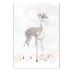 Spring Deer Print Pink