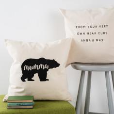 Personalised Bear Hug Cushion Cover