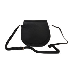 Small Black Leather Shoulder bag across body