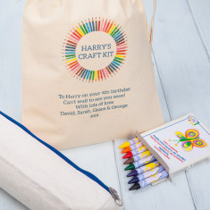 Personalised Decorate Your Own Pencil Case Kit