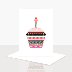 Cupcake Greeting Card (Pack of 8)
