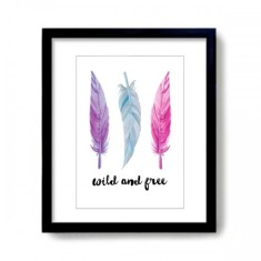 Wild and Free Watercolour Feathers