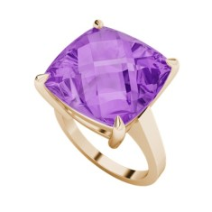 Amethyst 9 carat rose gold ring