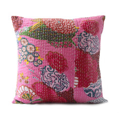 Kantha cushion in Floral