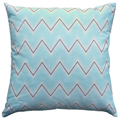 Boheme aqua chevron cushion