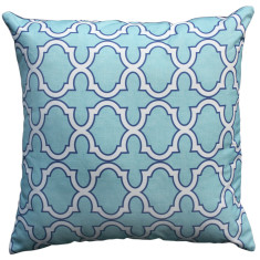 Boheme aqua trellis cushion