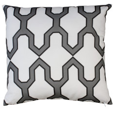 Boheme black facet cushion