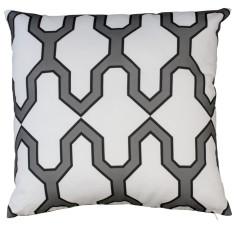 Boheme black facet cushion