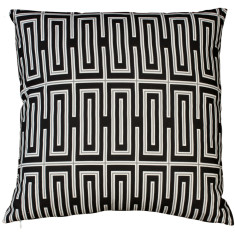 Boheme black geo cushion
