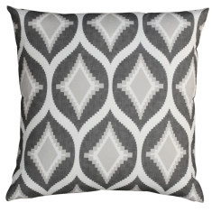 Boheme charcoal Aztec cushion