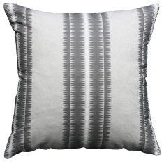 Boheme charcoal stripe cushion