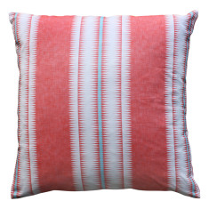 Boheme coral stripe cushion