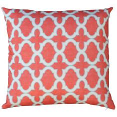 Boheme coral trellis cushion