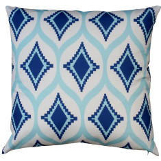 Boheme navy Aztec cushion