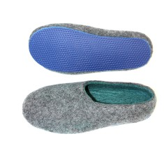 Men's custom handmade wool slippers (ocean)