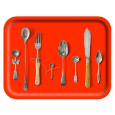 Rectangle cutlery tray (various colours)