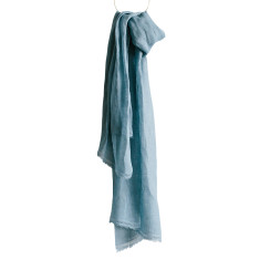 Provence blu linen scarf