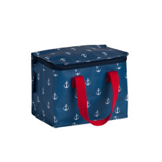 Insulated lunch box bag in Anchor Print