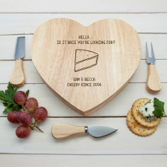 Is It Brie You're Looking For? Romantic Heart Cheese Board