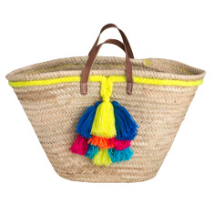 Multi tassel basket