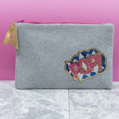 Personalised Pop Makeup Bag Zip Pouch Clutch