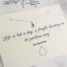 Keats dewdrop necklace