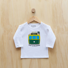 Personalised tram long sleeve t-shirt